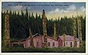 Totem Poles of Haida Indians - Ketchikan, Alaska AK Postcard