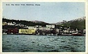 The Water Front - Ketchikan, Alaska AK Postcard