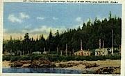 Old Kasaan-Hyda Indian Villiage - Ketchikan, Alaska AK Postcard