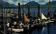 Huge Fishing Fleet - Ketchikan, Alaska AK Postcard