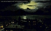 An October Night - Ketchikan, Alaska AK Postcard