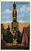 Totem Pole of Thlinget - Ketchikan, Alaska AK Postcard