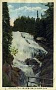 Pitchfork Falls - Alaska AK Postcard