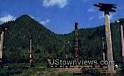Totem Poles, Saxman Park - Ketchikan, Alaska AK Postcard