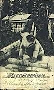 Indian Cemetery - Ketchikan, Alaska AK Postcard