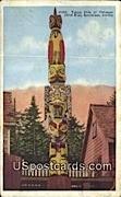 Totem Pole of Thlinget Chief Kian - Ketchikan, Alaska AK Postcard