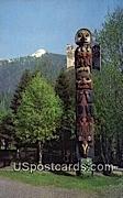 Raven Flood Totem - Ketchikan, Alaska AK Postcard