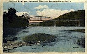 Castleman Bridge - Berryville, Virginia VA Postcard