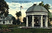The Temple of Fame - Arlington, Virginia VA Postcard