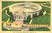The Memorial Amphitheatre  - Arlington, Virginia VA Postcard
