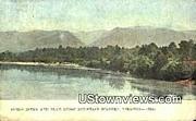 James River & Blue Ridge Mountains  - Blue Ridge Parkway, Virginia VA Postcard