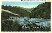 Railway Train  - Blue Ridge Parkway, Virginia VA Postcard