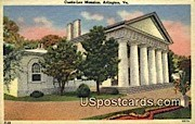 Custie Lee Mansion - Arlington, Virginia VA Postcard
