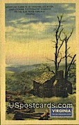 Mountain Cabin - Blue Ridge Parkway, Virginia VA Postcard
