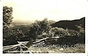 Real Photo - Mountain Vista - Blue Ridge Parkway, Virginia VA Postcard