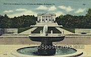 Staircase, Tomb of Unknown Soldier - Arlington, Virginia VA Postcard