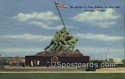 Statue of Flag Raising, Iwo Jima - Arlington, Virginia VA Postcard