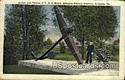 Anchor, USS Maine - Arlington, Virginia VA Postcard