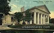 Arlington Mansion - Virginia VA Postcard