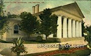 Custis Lee Mansion - Arlington, Virginia VA Postcard