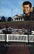Grave of John F Kennedy, 35th President - Arlington, Virginia VA Postcard
