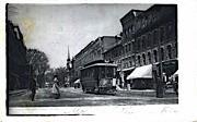 Reproduction - Main Street - Brattleboro, Vermont VT Postcard