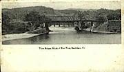 Three Bridges - Brattleboro, Vermont VT Postcard