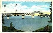New Bridge - Burlington, Vermont VT Postcard