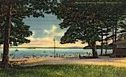 Municipal Bathing Beach - Burlington, Vermont VT Postcard