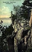 Sunset Rock - Burlington, Vermont VT Postcard