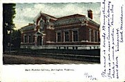 Mary Fletcher Library - Burlington, Vermont VT Postcard