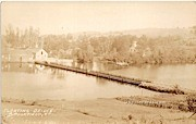 Floating Bridge - Brookfield, Vermont VT Postcard
