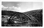 Bridge & Connecticut River - Brattleboro, Vermont VT Postcard
