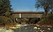 Covered Bridge - Jeffersonville, Vermont VT Postcard