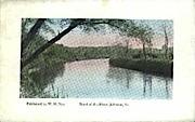Bend of the River - Johnson, Vermont VT Postcard