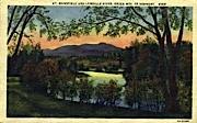 Lamoille River - Mount Mansfield, Vermont VT Postcard