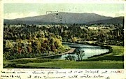 Winooski River - Mount Mansfield, Vermont VT Postcard