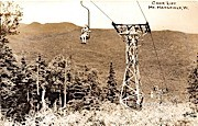 Chair Lift - Mount Mansfield, Vermont VT Postcard