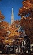Congregational Church & Soldiers' Monument - Rutland, Vermont VT Postcard