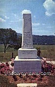 Caleb Houghton Monument - Pittsford, Vermont VT Postcard