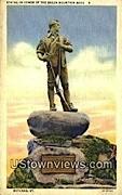 Statue in Honor of Green Mtn Boys - Rutland, Vermont VT Postcard