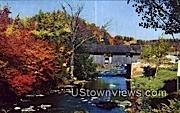 Old Covered Bridge - Johnson, Vermont VT Postcard