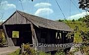 Power House Covered Bridge - Johnson, Vermont VT Postcard