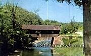 Covered Bridge, Gihon River - Johnson, Vermont VT Postcard