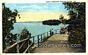 Lake Champlain - Red Rocks, Vermont VT Postcard
