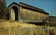 Railroad Covered Bridge - Wolcott, Vermont VT Postcard