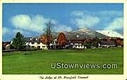 The Lodge - Mount Mansfield, Vermont VT Postcard