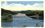 Suspension Bridge, Connecticut River - Brattleboro, Vermont VT Postcard