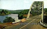 Gulf Bridge, Connecticut River - Brattleboro, Vermont VT Postcard