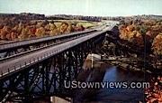 Bridge, West River - Brattleboro, Vermont VT Postcard